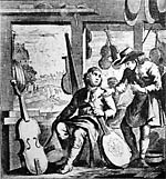 illustration of a violin maker